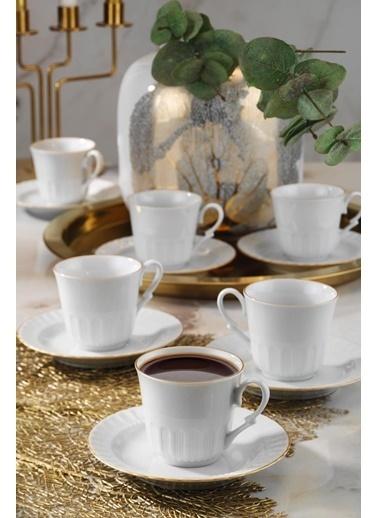 Kütahya Porselen Kütahya Porselen Sedef Çay Fincan Takımı 12 Parça Renkli